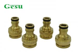 China Customized Size Garden Pipe Fittings / OEM Brass Two Way Tap Connector on sale