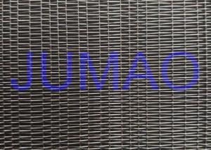 China Glass Laminated Metal Mesh | Glass Laminated Brass As Partition Wall on sale