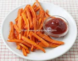 China Semi-Automatic Carrot Stick Fries Production Line on sale