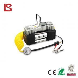 China Heavy duty double cylinder portable 12 volt car air compressor with LED light BS-8003 on sale