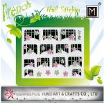 2012 New Design custom Removable 3D Art French Nail Sticker for Finger Tip