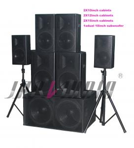 China Birch Wooden Box Pro Audio Speaker System For Stage on sale