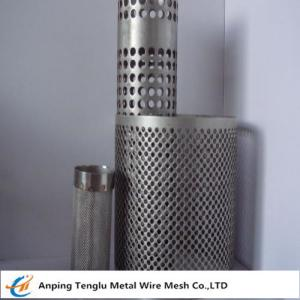 China Wire Mesh Filter Tube|Flat Kintting Weave with Round Hole Shape on sale