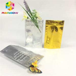 China Clear Front Doypack Foil Pouch Packaging Mylar Zip Lock Bag Cosmetic Sample Sachet on sale
