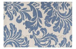 Grey Blue Beige Flower Pattern Wool Area Rug Carpet Custom Design Carpets Rugs