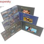 Folheto video feito sob encomenda da polegada 16.7M do cartão 7 do lcd do casamento com tela video