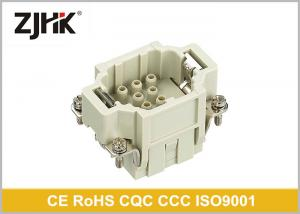 China Crimp Insert Cable HEE Heavy Duty Rectangular Connector 10 Pin With High Density on sale