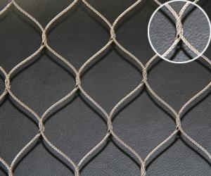 China Hand Woven Stainless Steel Wire Rope Mesh , Flexible Wire Mesh Netting Durable on sale