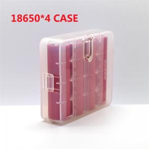 China 18650 plastic battery case for 4pcs 18650 size batteries, 4*18650 battery case, high quality 18650 plastic storage case on sale