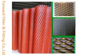 Quality PVC Dipping Expanded Metal Mesh , Anti - Skidding PVC Coated Wire Mesh for sale