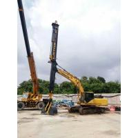 Digging Equipment Foundation Construction Tools , Max Vertical Digging Depth 26M Excavator Telescopic Boom