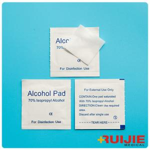 China Disposable Medica Suppliesl Non-Woven Sterile 70% Isopropyl Alcohol Pads on sale
