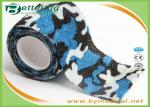 Blue Colour Camouflage Printing Non Woven Cohesive bandage Pre Wrap for Army Camping Hunting