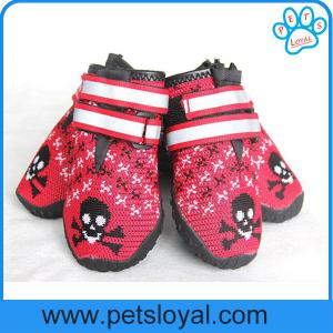 China Breathable Dog Shoes Soft Knitting Paw Protector with Reflective Velcro China Manufacturer on sale