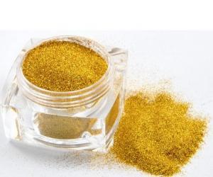 China Fashional PET Gold Glitter Powder , 1/128 Nail Glitter Powder on sale