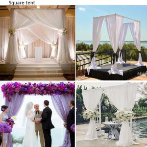 China Wedding backdrop adjustable pipe and drape for event cheap price wholesale aluminum pipe and drape stand stage backdrop on sale