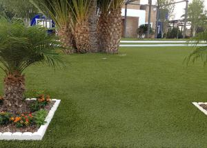 China Landscaping Decoration Fake Grass Carpet , Plastic Artificial Grass Squares on sale