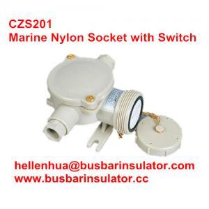 China 10A electrical Waterproof socket CZS201 marine nylon industrial socket 1141/D/FS on sale