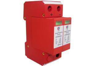China Single Phase 2 Poles 220V Solar Surge Protection Device Fire Resistant PBT Material on sale