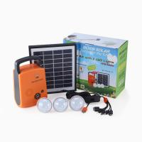 4W 9V lithium portable lighting energy mall house solar system with radio