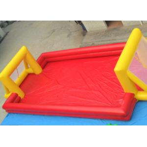 China Red Outdoor Football Playground Inflatable Sports Games For Kids on sale