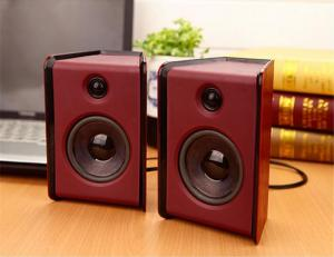 China USB Powered Multimedia Computer Speakers , 4 Ohm 2.0 Channel Active Computer Speakers on sale