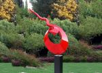 Decoration Painted Metal Sculpture Public Art Stainless Steel Garden Sculptures