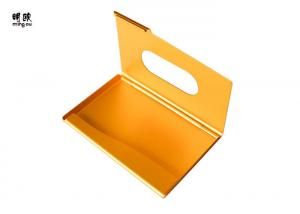 China Gold Mens Credit Card Holder Case Metal Material , Trendy Visiting Card Pouch Holder on sale