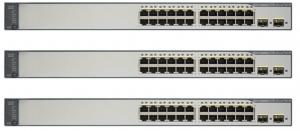 China WS-C3750V2-24PS-S  POE Network Switch , 24 Way Poe Switch Energy Efficient on sale