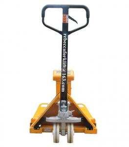 China 2500KG Scale Industrial Pallet Truck With DF Hydraulic Pump Bulit In Battery Charger on sale