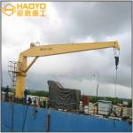 Offshore Pedestal Fixed Marine Cranes with ABS CCS Certificates Marine Ship Deck Crane