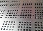 Perforated Galvanized Sheet Metal , Stainless Steel Perforated Plate For Filtration / Shelving