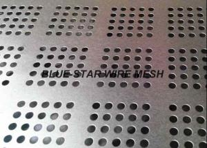 China Perforated Galvanized Sheet Metal , Stainless Steel Perforated Plate For Filtration / Shelving on sale