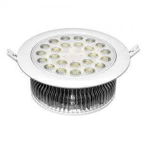 China Fins aluminum housing high quality retofit 24W high power recessed round LED down light on sale