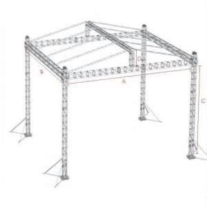 China Portable Square Bolt Aluminum Stage Truss System for banquet, party, display studio on sale