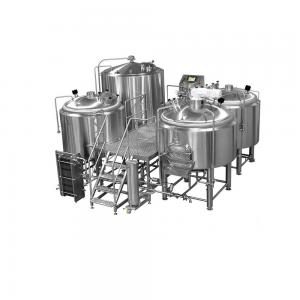 China 1000L 2000L Stainless Steel 304 Mirror Polish Three Vessel Brewhouse For Craft Beer Brewing Equipment on sale