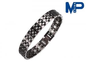 China High quality copper ox titanium metal bracelet silver and gold on sale