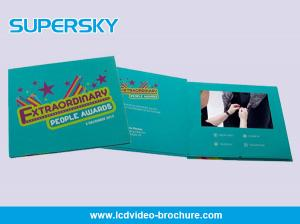 China Portable Folder Video In Print Brochure , HD 1080P LCD Video Card LCD Support on sale