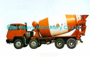 China Orange 8x4 16cbm Concrete Mixer Trucks / EURO 2 Diesel Cement Mixer Truck on sale
