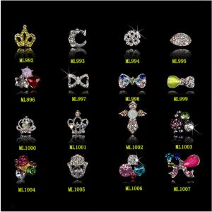 China Womens Zircon Alloy Bow 3D Nail Art Tips Stickers Decoration Jewelry ML992-1007 on sale