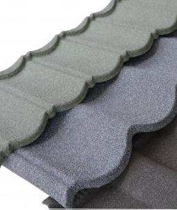 China Roman Wind and Corrosion Resistance Stone Coated Steel Roof Tiles for Building Roof Construction on sale