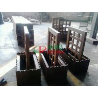 Prefab WPC Composite Garden Planters 759 X 438 X 950mm With Wood Garden Trellis