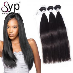 China No Shedding Malaysian Straight Hair Extensions Double Layers Sewing Natural Color on sale