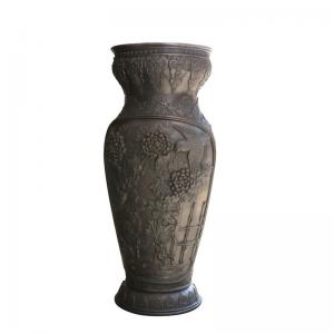 China Golden Cast Iron Decor Antique Cast Iron Flower Pots / Metal Garden Urns Planters on sale
