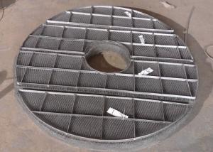 China Donut Shape Wire Mesh Demister, Pipe Hole Installation Mist Eliminator on sale