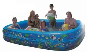 China PVC Large Inflatable Swimming Pools With Fish Print For 2 - 5 Person on sale