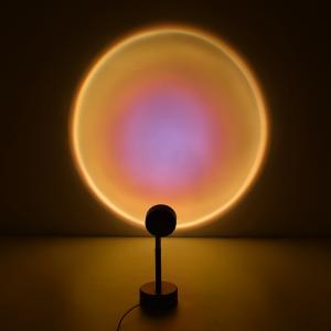 China USB Charging Night Light 180 Degree Rotation Rainbow Sunset Projection LED Table Lamp for Living Room Bedroom Decor on sale