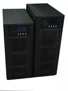 China Automatic High Frequency Online UPS Black , 10KVA Pure Sine Wave UPS on sale