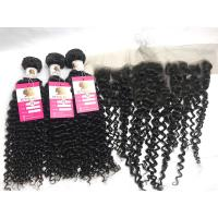 China Black Curly Hair Weave Bundle Unprocessed Virgin Peruvian Human Hair Extensions on sale