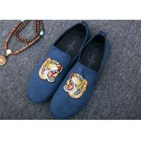 Men Loafer Slip On Shoes Flat Casual Shoes Tiger Metal At Vamp Velvet EUR 38 - 45